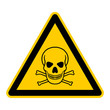 wso2 WarnSchildOrange - english warning sign: skull and bones - German Warnschild: Totenkopf - g204